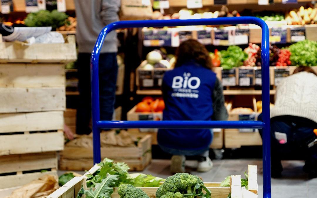 Biocoop Gambetta, magasin bio à Paris : intérieur de la boutique