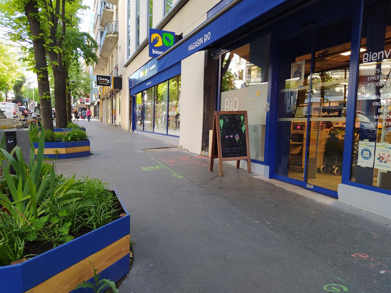 Biocoop Gambetta, magasin bio à Paris : devanture